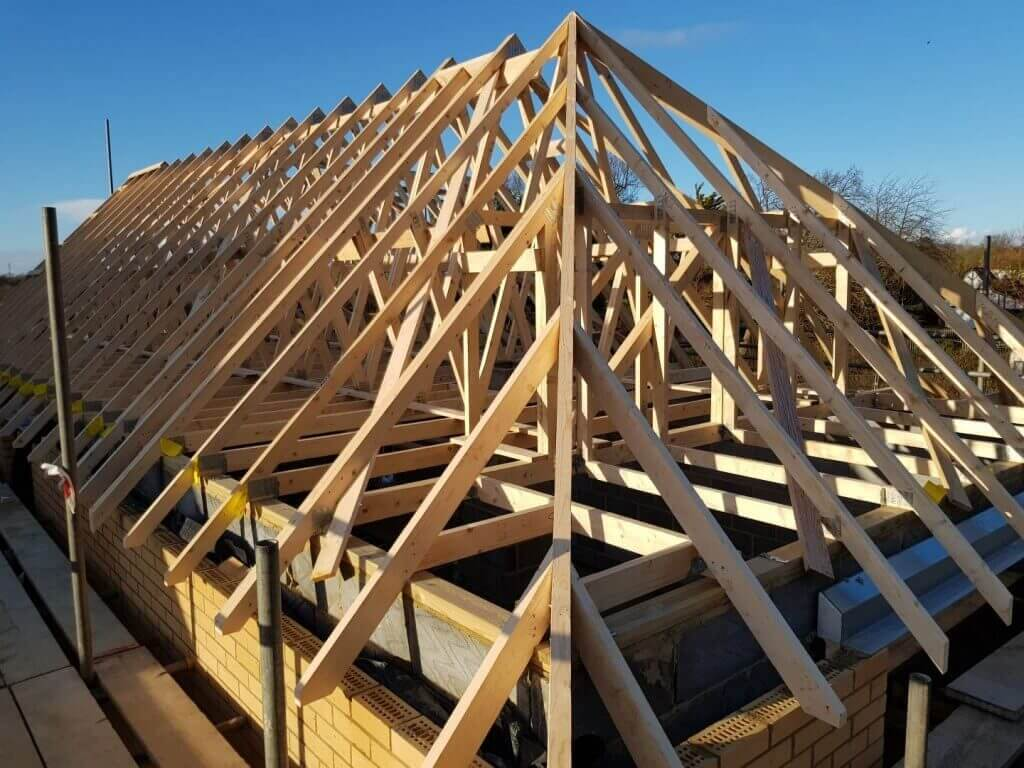 hand cut and truss roofs